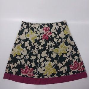 Merona Skirt Floral Lined A-Line 100% Cotton